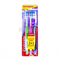 Зубна щітка Colgate ZigZag Medium 2+1, 3 шт.