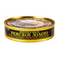 Шпроти Рижское Золото в олії 160г
