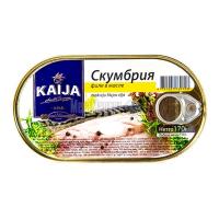 Скумбрія Kaija філе в олії 170г х40