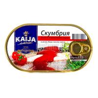 Скумбрія філе Kaija у томатному соусі 170г х40