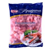 Креветки Vici Королівські очищені з хвостиком варено-морожені 41/50 1000г
