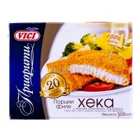 Хек Vici порції філе в паніровці заморож.300г х24