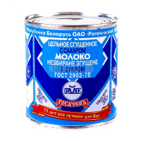 Молоко Рогачевъ незбиране згущене з цукром 8,5% 380г
