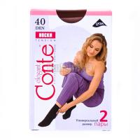 Шкарпетки Conte Tension 40den 2пари p.23-25 natural