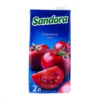 Сік Сандора томатний з сіллю 2л х6