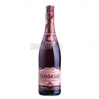 Вино ігристе КЗШВ Українське рожеве солодке 0.75л х6