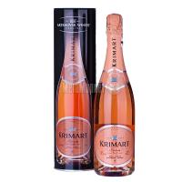 Вино ігристе Krimart рожеве брют 0,75л тубус х6