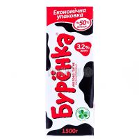 Молоко Бурёнка 3,2% 1,5л х12
