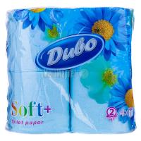Туалетний папір Диво Soft+ Блакитний, 4 шт.