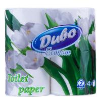 Туалетний папір Диво Econom Soft Білий, 4 шт.