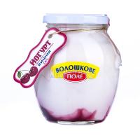 Йогурт Волошкове поле Вишня 2,8% скло 350г х25