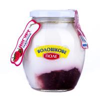Йогурт Волошкове поле  Десертний Малина 2,8%  с/б 350г х6