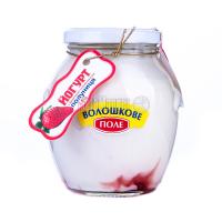 Йогурт Волошкове поле Десертний Полуниця 2,8% 350г с/б х6