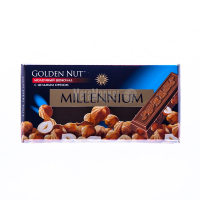Шоколад Millennium молочний з горіхом 100г х20