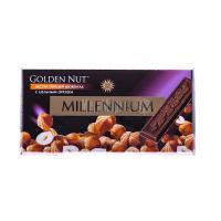 Шоколад Millennium чорний з горіхом 100г х20