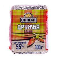 Сир Славія плавлений Дружба 55% 100г х25