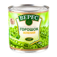 Горошок Верес зелений ж/б 420г