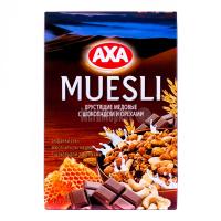 Мюслі AXA у меді шоколад/горіх 375г х12