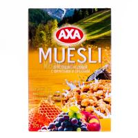 Мюслі AXA у меді фрукти/горіх 375г х12