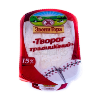 Сир Звенигора кисломолочний 15% 400г