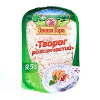Сир Звенигора кисломолочний Творог розсипчастий 9,5% 330г