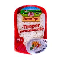 Сир Звенигора кисломолочний розсипчастий ніжний 15% 330г
