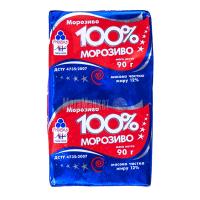 Морозиво Рудь 100% морозиво брикет 90г х30