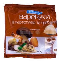 Вареники Геркулес з картоплею та грибами заморожені 400г
