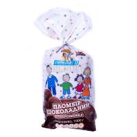 Морозиво Геркулес Пломбір шоколадний суперсімейка 1000г