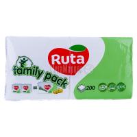 Серветки паперові столові Ruta Family Pack 24*24см Білі, 200 шт.