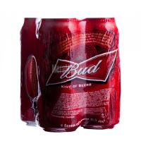 Пиво Bud з/б 4*0,5л
