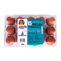 Яйця курячі Від Доброї курки Київські 15шт х20