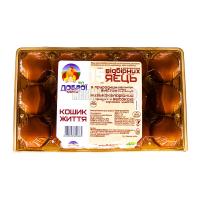 Яйця курячі Від Доброї курки Кошик життя відбірні 15 шт х20