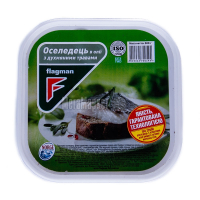 Оселедець Флагман філе-шматочки з травами в маслі 500г х8