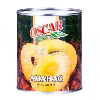 Ананас Oscar foods кільцями у сиропі ж/б 850мл
