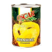 Ананас Oscar foods кільцями у сиропі ж/б 580мл