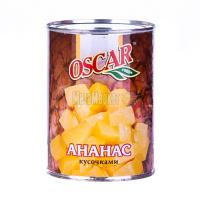 Ананас Oscar шматочками у сиропі ж/б 580мл