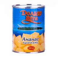Ананас Дольче Віта шматочками у сиропі ж/б 580мл