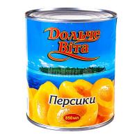 Персики Дольче Віта в сиропі великі 850мл ж/б