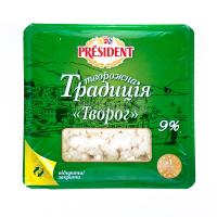 Сир зернистий Сирна Традиція кисломол. 9% 450г