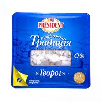 Сир зернистий Сирна Традиція кисломол. 0% 450г