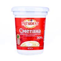 Сметана President 30% 400г