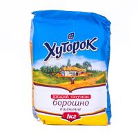 Борошно Хуторок пшеничне в/г 1кг х20