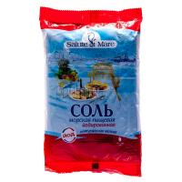 Сіль харчова морська Salute di Mare йодована дрібна 600г