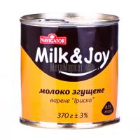 Молоко згущене Navigator Milk&Joy вар. Іриска 8,5% 370г х15