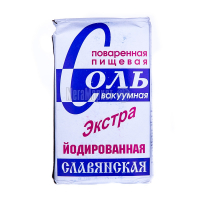 Сіль Слов`янська Екстра кухонна йодована 1кг