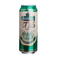 Пиво Львівське 1715 з/б 0.5л