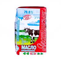 Масло Яготин Селянське солодковершкове 78% 200г