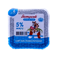 Сир Яготинське для дітей кисломолочний 5% 100г
