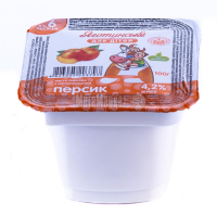Паста сиркова Яготинське д/дітей персик 4,2% 100г х12